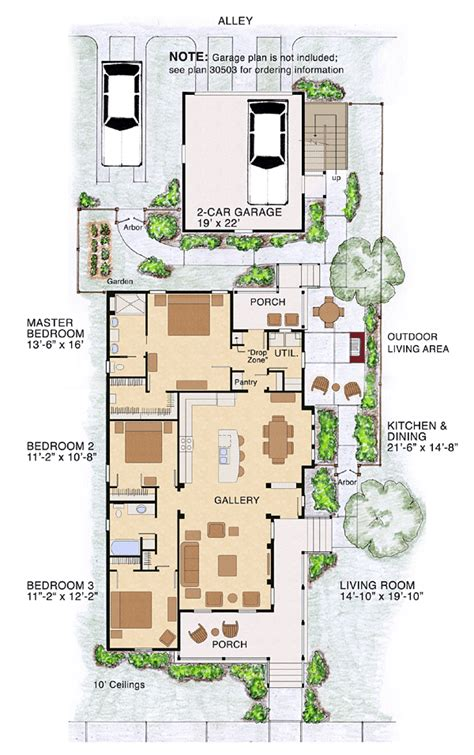 house plans for small lots like the kitchen dining living layout would like the