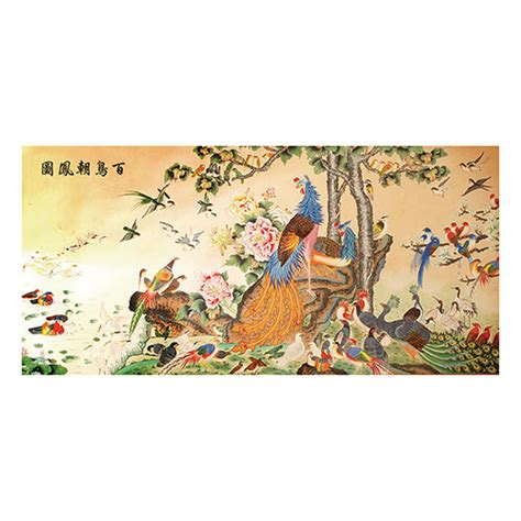painting of the 100 auspicious birds