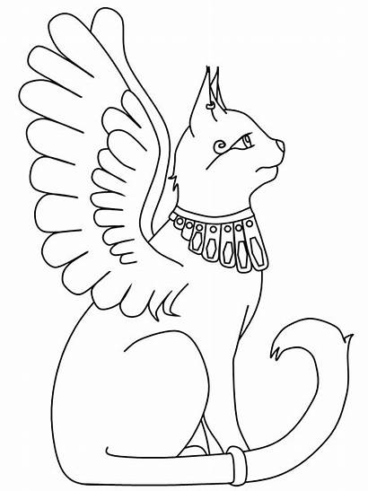 Coloring Bastet Pages Cat Cats Printable Word