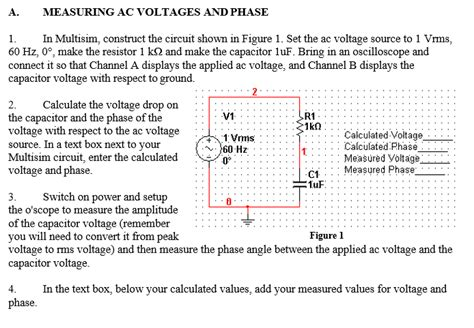 Solved Measuring Voltages Phase Multisim Const