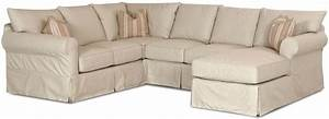 slip cover sectional sofa with right chaise by klaussner With sectional sofa protector covers