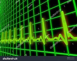 Human Heart Beat Ekgecg Pulse Diagram Stock Illustration