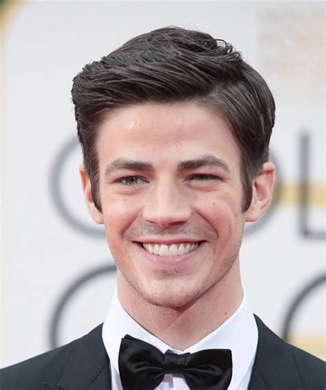 grant gustin formal short straight hairstyle