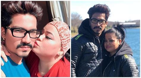 Newly married Bharti and Haarsh look aww-dorable while ...