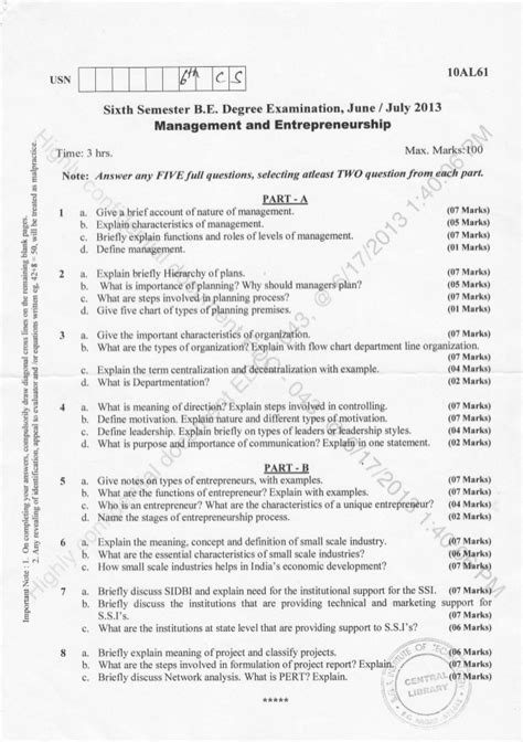 semester cs   june question papers