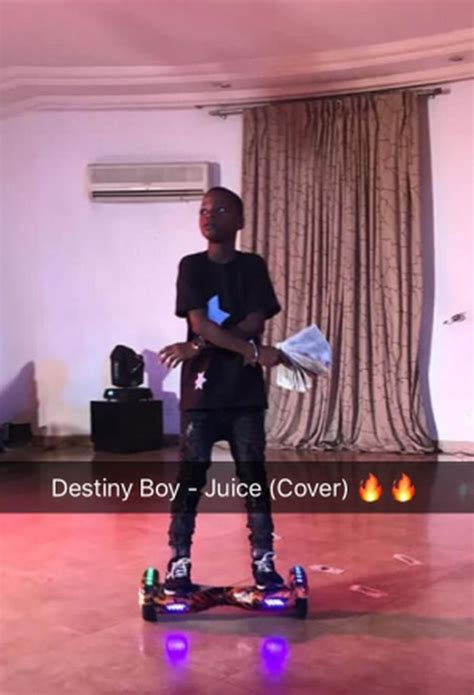 audio destiny boy juice ycee cover