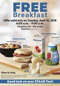 Free Breakfast for STAAR Test at McDonald's   365 Things ...