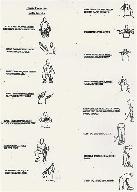 Chair Exercise For Seniors Handout printable thera band exercises for seniors go