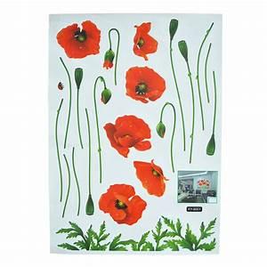 elegant spend corn poppy wall sticker pvc waterproof With beautiful poppy wall decals
