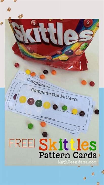 Skittles Math Games Patterns Printable Mathgeekmama Simple