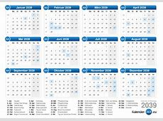 Kalender 2039