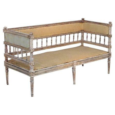 Unique Benches And Settees by 18th Century Swedish Gustavian Period Settee In Original