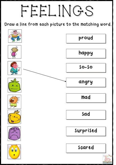 emotions  feelings worksheets  kids