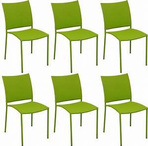 Chaise De Jardin Design : chaise de jardin design bonbon lot de 6 mousse ~ Teatrodelosmanantiales.com Idées de Décoration