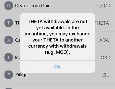 It's a basic human right for everyone to control. THETA withdraws currently unavailable with crypto.com ...