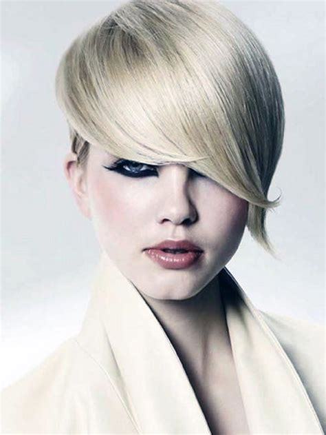 Short Haircut With Long Bangs Best Pictures : Fashion Gallery