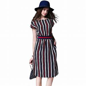 europe stripe long summer dress dress vestidos mujer 2017 With robe ete longue 2017