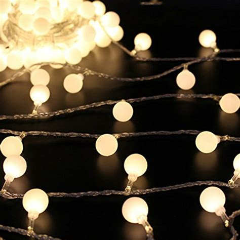 curtain fairy lights battery operated 50 leds 16 feet globe led string lights battery powered