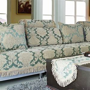 Thicker covers on sofa universal flocked stretch sofa for Universal sectional sofa slipcovers