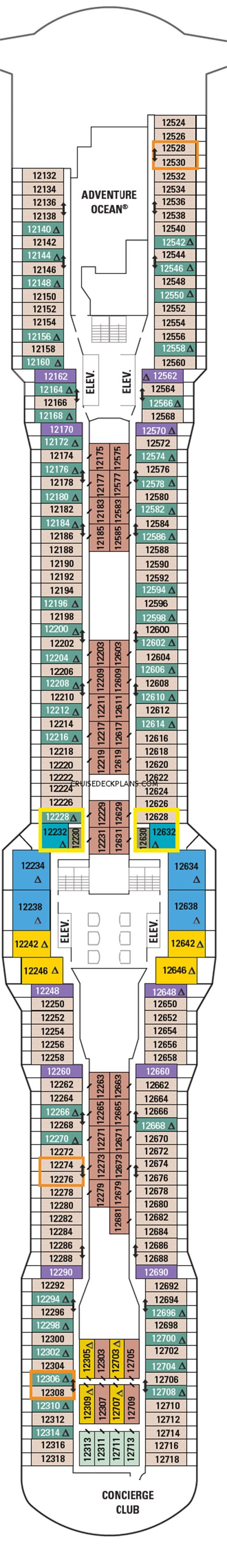Deck Plan 12 by Ovation Of The Seas Royal Loft Suite Category