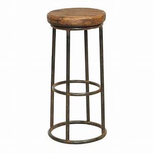 Vente de tabouret de bar industriel : meuble rétro Fabric en fer forgé