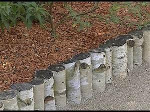 Rondin De Bois Pour Jardin : poser une bordure en rondins de bois youtube ~ Edinachiropracticcenter.com Idées de Décoration