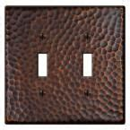 amerelle leaf 2 toggle wall plate aged hammered 1 toggle wall plate aged bronze wall plates