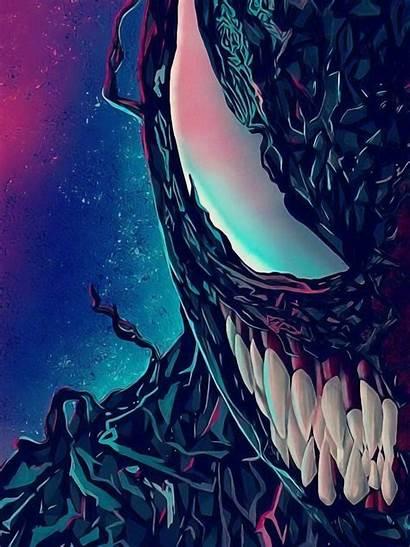 Venom Spider Teeth Portrait Artwork Desktop 1080p