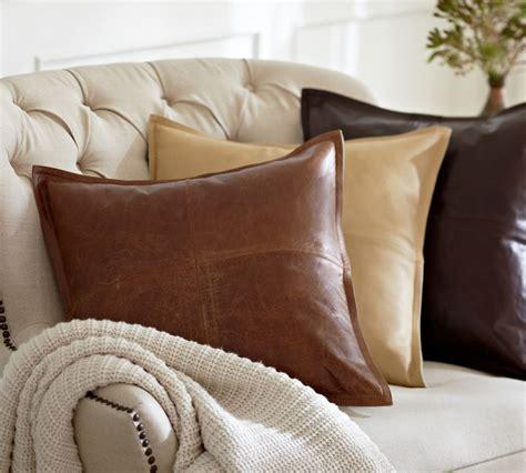 brown leather cushion tutti decor ltd
