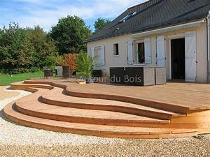Escalier Terrasse Bois : terrasse bois angers menuisier terrasse sol artisan ~ Nature-et-papiers.com Idées de Décoration