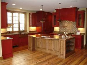 Rustic Red Kitchen
