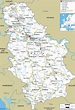 Detailed Clear Large Road Map of Serbia - Ezilon Maps