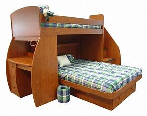 Space, Saver, Bunk, Beds, L, Shaped, Twin, Over, Full, Bunk, Beds, Ideas, With, Desk
