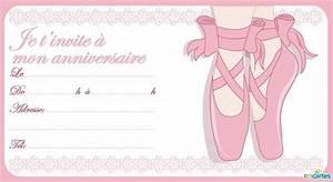 Invitation Anniversaire Fille 9 Ans : carte invitation anniversaire fille gratuite danseuse ~ Melissatoandfro.com Idées de Décoration
