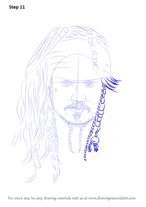 learn   draw captain jack sparrow characters step