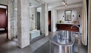 Materiaux naturels pour un decor frais dans la salle de bains for Materiaux pour salle de bain