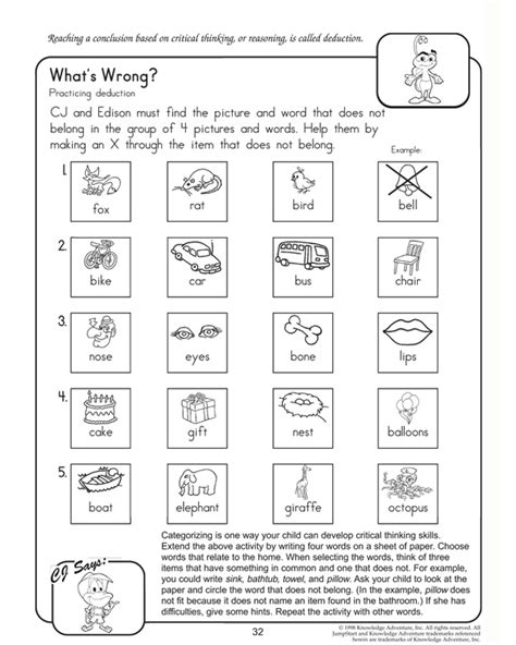 Critical Thinking Skills Kids