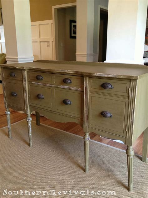 Painted Sideboard Buffet by Updating A Vintage Sideboard Buffet With A Pop Of Color