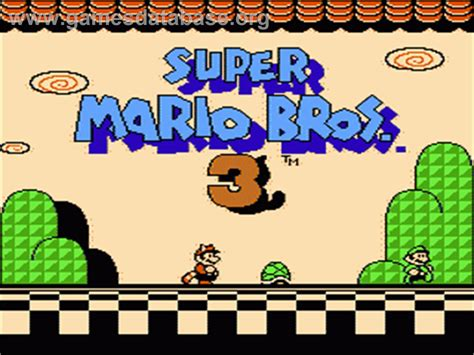 Super Mario Bros 3 Nintendo Nes Games Database