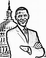 Obama Coloring Printable President Pages Barack Michelle Worksheets Preschoolers July Activities 4th History Crafts Loan Month Printables Getcolorings Worksheeto Colouring sketch template