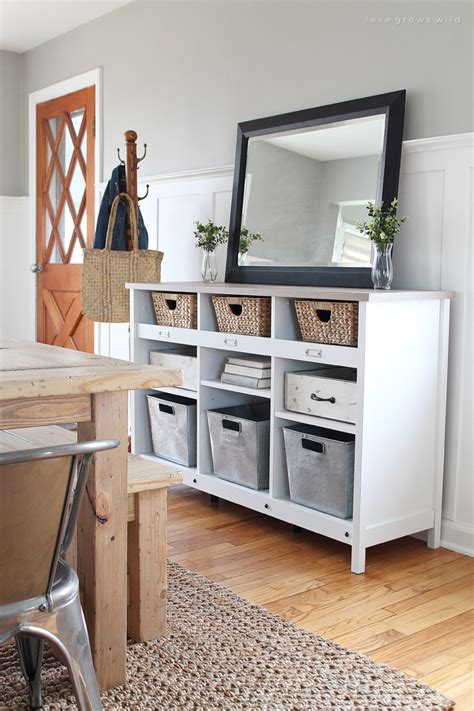 Foyer Tables With Storage by Multi Purpose Entryway Storage Grows
