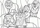 Den Coloring Daniel Pages Lion Popular sketch template