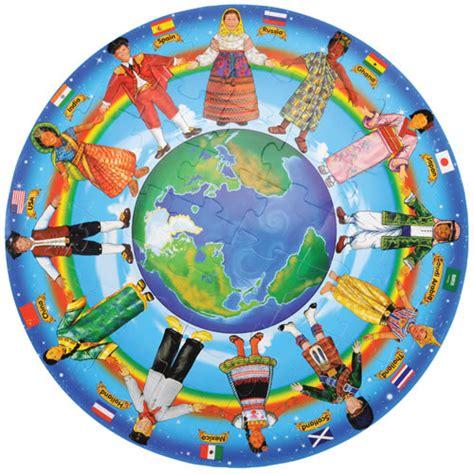 children   world floor puzzle  pieces  melissa