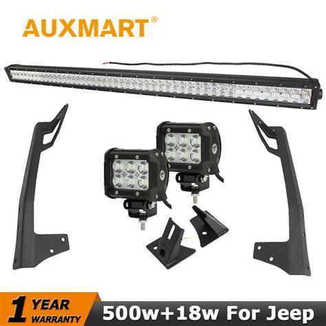 assem 18w led spot work auxmart for jeep wrangler jk cree chips 5d 500w 52 inch