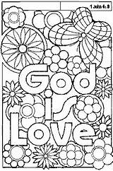 Coloring God sketch template
