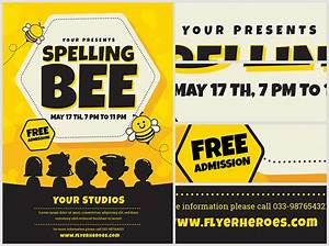 spelling bee invitation template - spelling bee flyer template flyerheroes