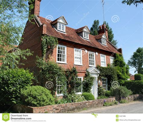colonial home plans traditional house stock photo image of