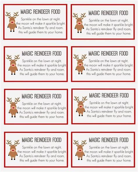reindeer food labels template   reindeer food ideas