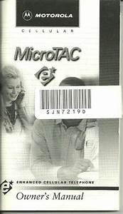 Owner U0026 39 S Manual Motorola Cellular Microtac E  Part
