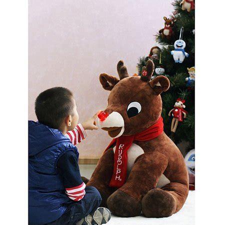 plush rudolph  red nosed reindeer walmartcom